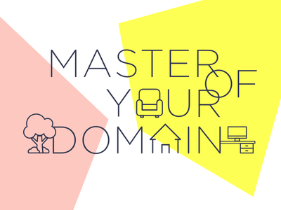 Master of Your Domain - Illustration illustration typeface text promo domain email