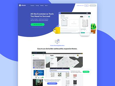 Homepage Concept ecommerce site homepage blue purple desktop imagery website