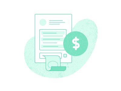 Collecting Payment Illustration - Step 3 texture colorful green illustration white payment ecommerce imagery progress steps website