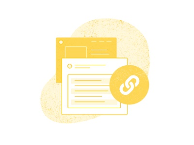 Link Account - Step 2 texture colorful yellow illustration white payment ecommerce imagery progress steps website