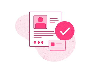 Verify Account - Step 1 texture colorful pink illustration white payment ecommerce imagery progress steps website
