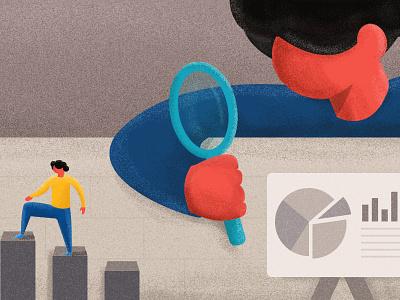 Customer Metrics chat freshworks dribbble cover blog red metrics customer illustration