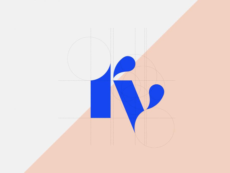 Personal logo geometry illustrator personal branding logotype branding logo vector design