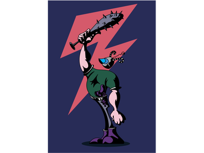 Douchebag character design illustration