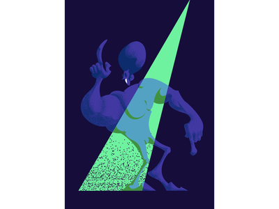 Party crasher characterdesign illustration