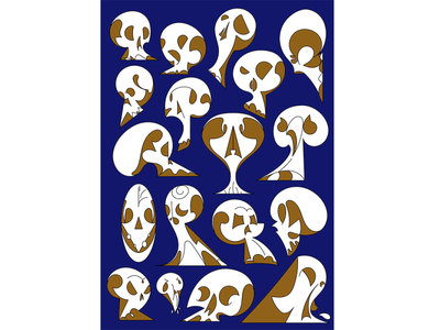 Shape exploring with my tablet pattern character design illustration