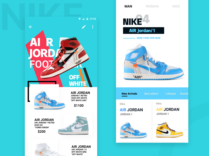 Shoes air nike shoes ux design ui app