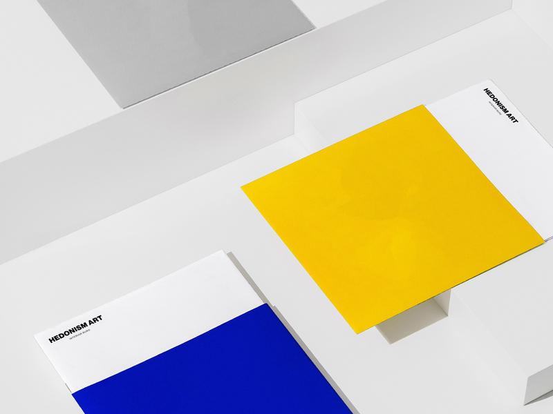 Branding for Hedonism Art interior luxury minimal minimalism letterhead folder business cards identity branding brand logotype logo