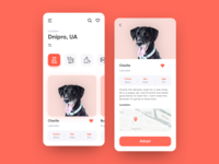 Pet adoption App UI concept