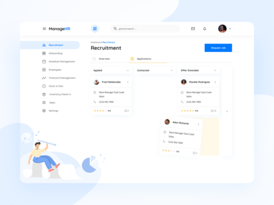 Dashboard for the B2B HR product