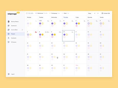 Wieprzuga   Company Dashboard appdesign side menu webdesign user interface design user interface design web dashboard platform interface ui app ux animation redesign rebranding