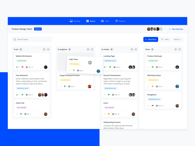 Task Management App sprint project todolist todo app todo task manager task management webapp webapplication dashboad web app flat minimal ux ui design
