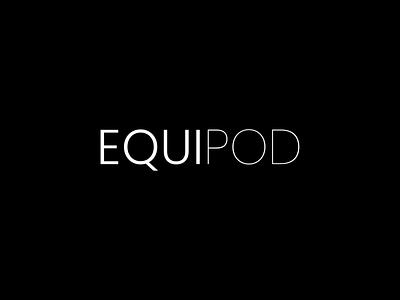 EquiPod - Logo animation splashscreen animation typography vector branding logo minimal design ux ui