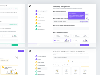 Product Map research client project kick-off brief vector illustration webdesign web app flat minimal design ux ui