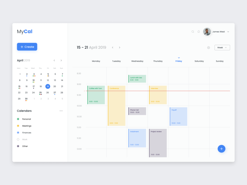 Calendar Website calendar webdesign website minimal design flat daily 100 dailyui web ux ui