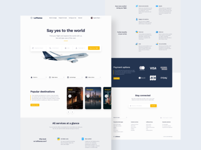Lufthansa Landing Page Redesign Concept