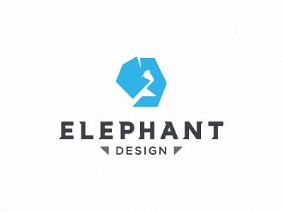 Elephant Design logo brand mark elephant