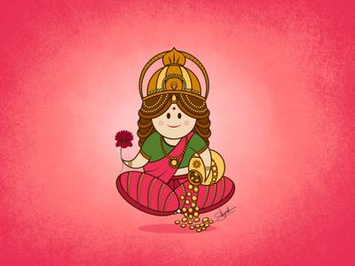 Lakshmi Maa illustration