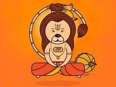 Lord Hanuman Illustraion hanuman lord hanuman digital art art sketch illustration hanuman illustration character design