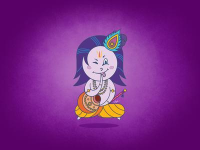 Lord Krishna Illustration