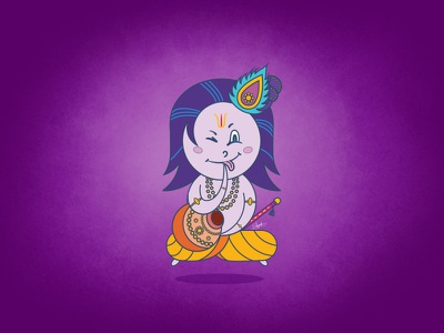 Lord Krishna Illustration illustration lord krishna sketch illustration lord krishna sketch krishna  illustration digital art design art character character design in illustrator cartoon render art illustration character design