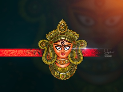 Lord Durga Digital Painting saurabh singh rajput shreyansh saurabh illustration art character sketch character design draw sketchbook art applepencil ipadpro digital painting digital art