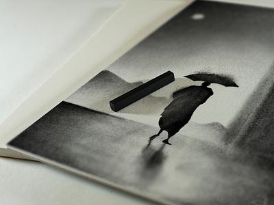 Man Walking in Rain procreateart procreate sketchbook digitalartwork drawing sketch applepencil ipadproart ipadpro artist art digitalart painting🎨 charcoalpainting charcoalsketching charcoalart charcoal charcoaldrawing charcoalsketch fineart