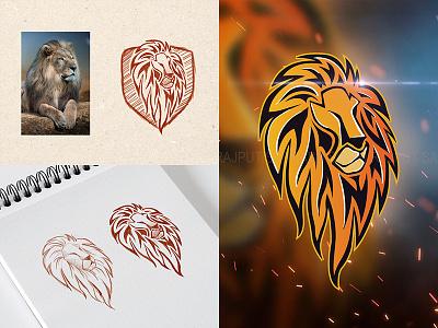 Lion Logo saurabh singh rajput shreyansh saurabh lion mascot logo mascot logo lion vector lion logo logo design logodesign sketch icon branding sketchbook vector design ui logo logo illustration illustration digital art