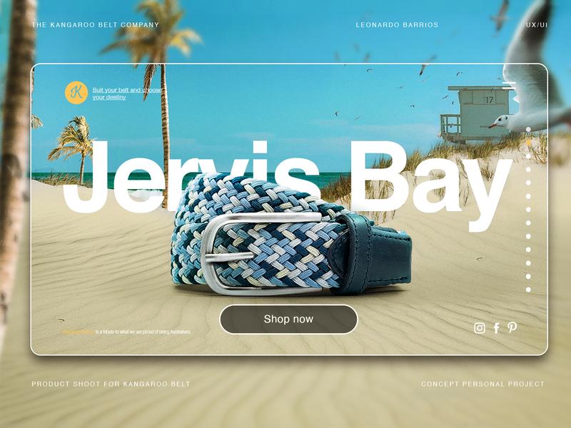 UX/UI Kangaroobelt.co Web page Concept jervis bay photoretouch retouch webdesign website ecommerce web adobe xd app ui ux