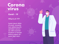 Corona virus theme illustration for social media post