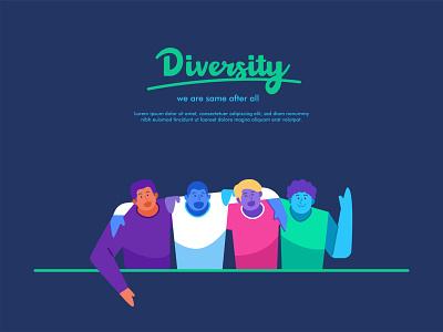 Diversity, racism and youth day concept illustration peace friendship diversity racist racism landingpage web illustration banner flat illustration