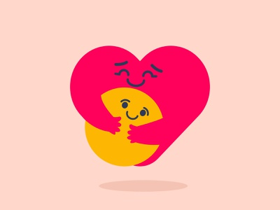 care emoji care love hug smiley smile socialmedia flat illustration