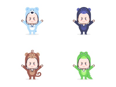 kids  with animal suit mascot cute kids crocodile bear monkey gorilla costume suit animal mascot