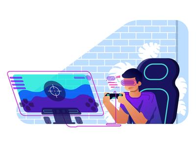 Gamer illustration