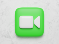 Big Sur - Facetime design facetime icon 3d mac apple ui app ios low poly lighting render blender