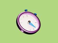 Timer 3D icon mobile game lowpoly ui design art low poly lighting render blender 3d illustration