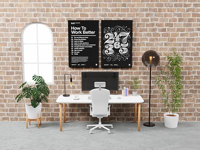 Virtual Meeting Background - Office isometric art low poly render blender 3d office background meet zoom meeting virtual