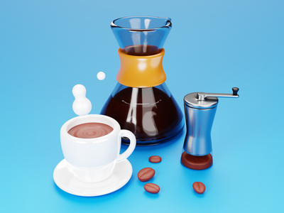 Design Fuel mug cup coffee cup grinder coffee lowpoly design art low poly lighting render blender 3d illustration