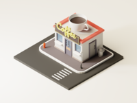 Isometric Coffee Shop