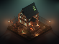 Haunted House - Dribbble Weekly Warm-Up