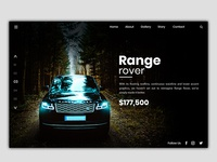 Range Rover Website Home Page Banner