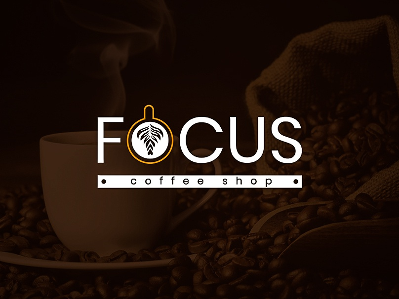 Focus coffee shop art ui ux flat illustrator app type vector icon logo branding illustration design web banner typography
