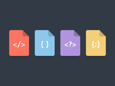 Files html, css, php, js icon icons user files flat html html5 css css3 php js javascript code dark ui user interface web