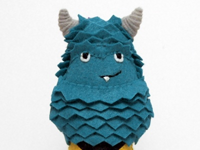felty captain sulley - PixArt Monsters Mash-Up sulley captain kirk sci-fi felt monster doll textile disney star trek pixar