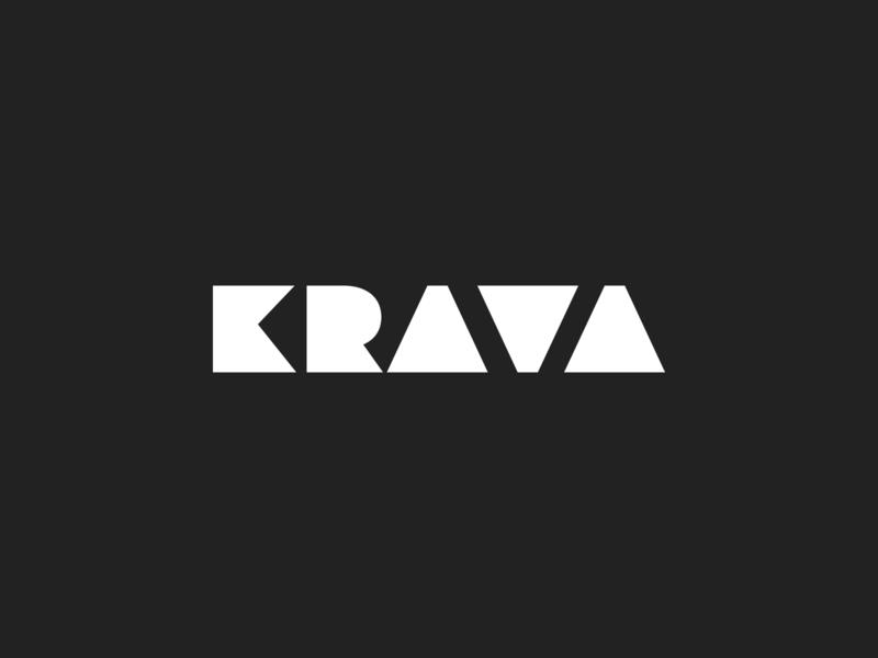 Logo Krava Design 2019 sketch app typography branding vector logo illustration web design