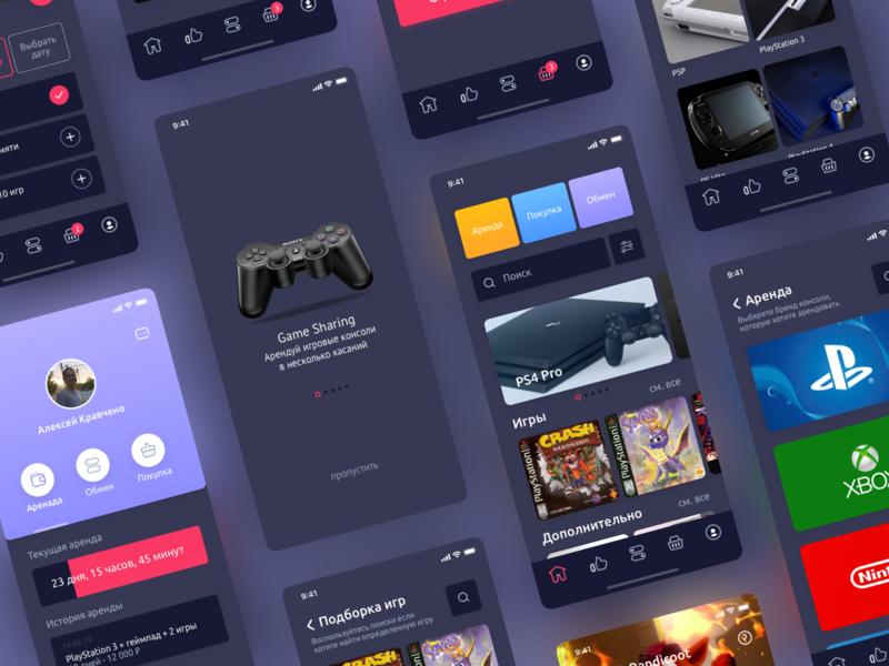 App – Rental consoles by Aleksei Кravchenko on Dribbble