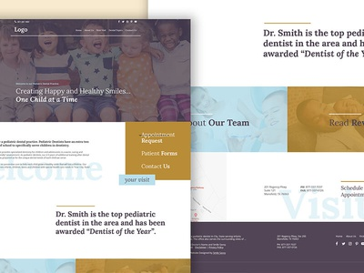 Website Template minimal sophisticated professional classic pediatric dentists kids children template web design wordpress website