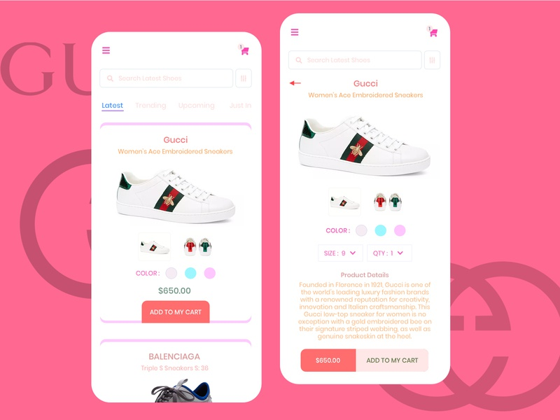 Luxury Sneaker E Commerce UI Sales Design Concept shoe design marketing sales uxresearch ui ux designsystem appdesigner designforhire designer design barskydesign appdesign