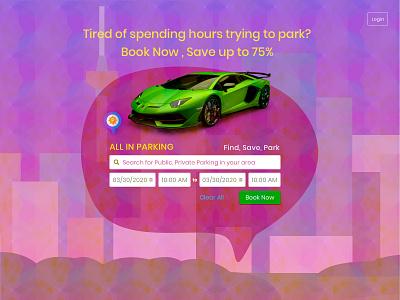Parking App Design Concept Landing Page parking app parking uidesign marketing appideas design uxresearch designer barskydesign appdesign ux design uxdesign ux landing page landingpages