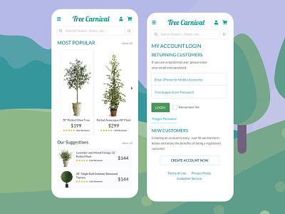 Design Concept for All Plant Tree E Commerce Sales App #2 illustration landingpage ui designsystem appdesigner ux barskydesign rapid prototyping appdesign design designer sales plants plant app